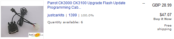 CK3000 Evolution Upgrade Cable on Ebay